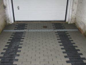 odwodnienia liniowe przy garażu