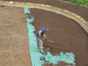 prace przygotowawcze pod trawnik